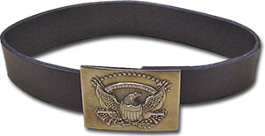 Lether belt with buckle