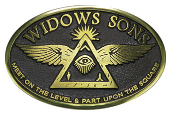widows sons freemason belt buckle