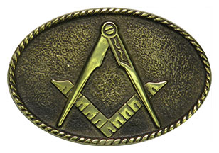 freemason master mason belt buckle