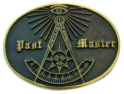 past master freemason belt buckle