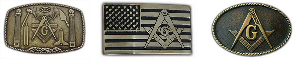 brass freemason belt buckles