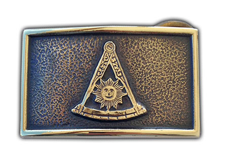 handmade freemason buckle