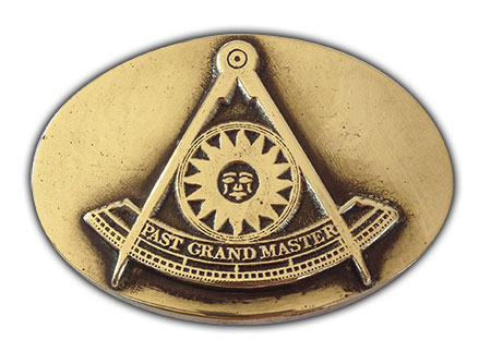 past grand master freemason belt buckle
