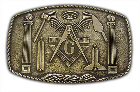 master freemason belt buckle