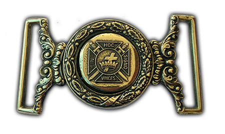 knights templar freemason belt buckle