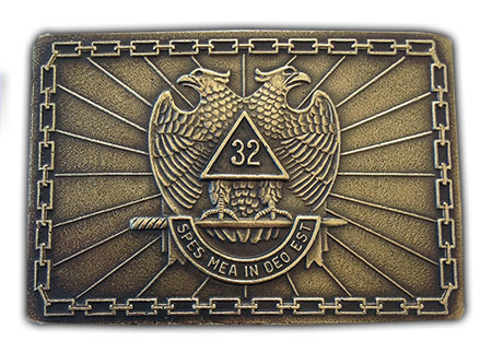 32nd degree freemason belt buckle