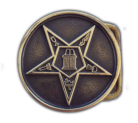 eastern star freemason belt buckle
